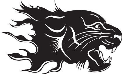 tiger icon design black and white sketch
