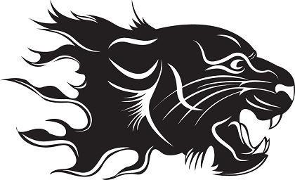 tiger icon design black and white sketch
