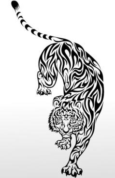 tiger image 08 vector