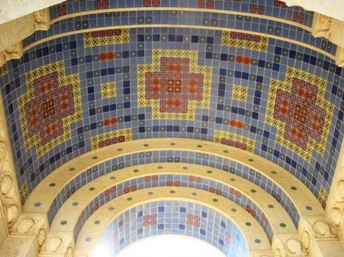 tile mosaic wrigley memorial