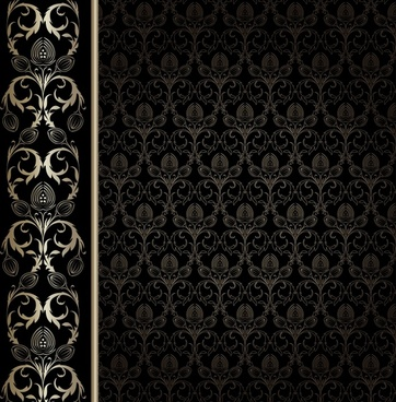 decorative pattern classical symmetric decor luxury black design