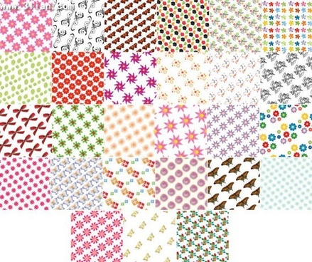 decorative pattern templates colorful repeating icons design