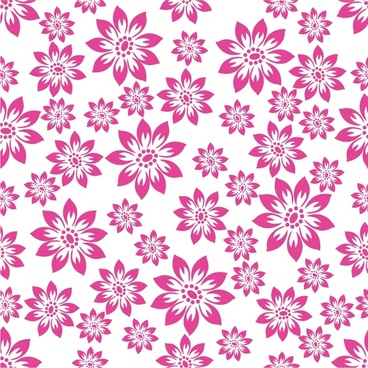 flowers pattern repeating design white violet ornament