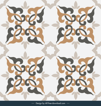 tile pattern template classic elegant symmetric repeating decor