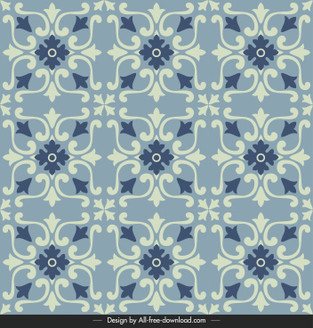 tile pattern template classical abstract floral repeating symmetry
