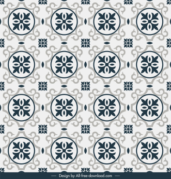 tile pattern template classical flat repeating symmetric decor