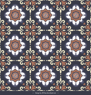 tile pattern template dark elegant repeating classic symmetry