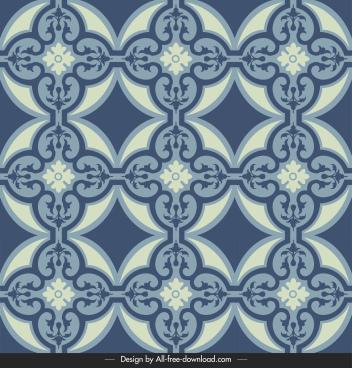 tile pattern template dark flat repeating symmetric shapes