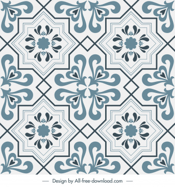 tile pattern template elegant classic decor repeating symmetry