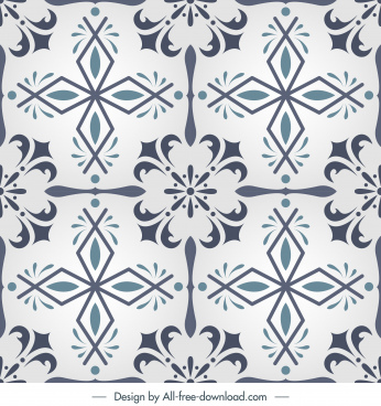 tile pattern template elegant classic european symmetry
