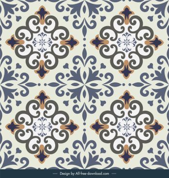 tile pattern template elegant classic repeating symmetry design