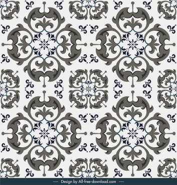 tile pattern template elegant classic symmetrical repeating shapes