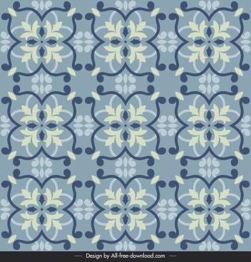 tile pattern template elegant classical repeating floral symmetric