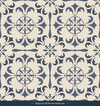 tile pattern template elegant european decor repeating symmetry