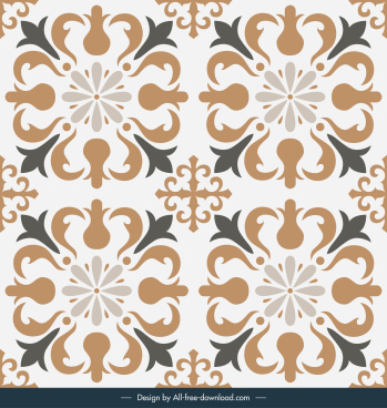 tile pattern template elegant european symmetric repeating shapes