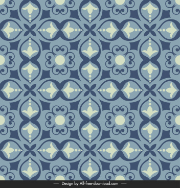 tile pattern template flat classical symmetric design