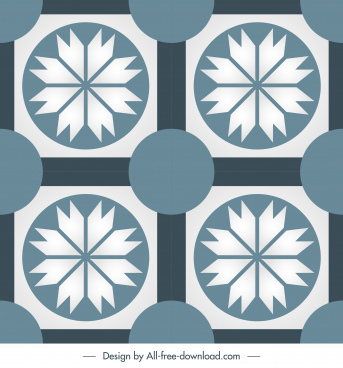 tile pattern template flat symmetric repeating decor