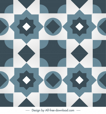 tile pattern template flat symmetrical repeating geometric shapes