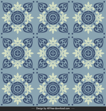 tile pattern template floral decor elegant classical symmetry