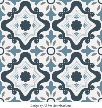 tile pattern template repeating symmetric design classic european