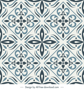 tile pattern template retro elegant symmetric repeating shapes