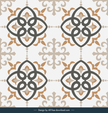 tile pattern template symmetric design classic elegant decor