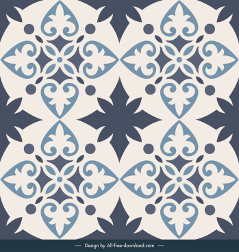 tile pattern template vintage symmetric repeating decor