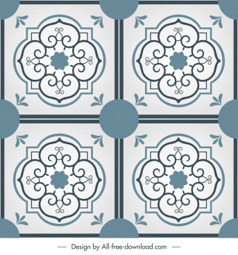 tile pattern templates classic elegant symmetric decor