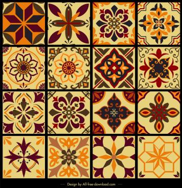 Geometric Tile Patterns Vector Free