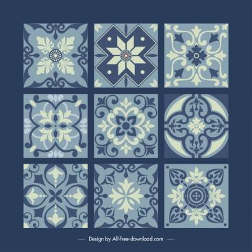 tile pattern templates elegant retro symmetric decor