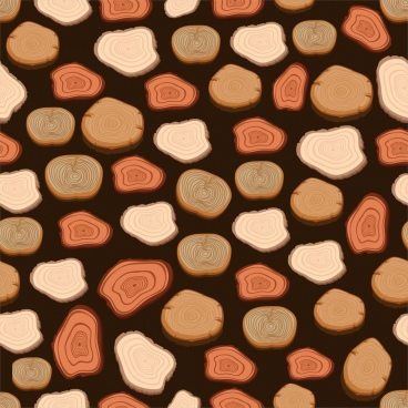 timber log background colored repeating design