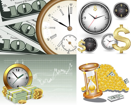 time and money in business vector