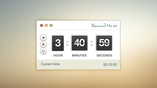 Timer/Stopwatch PSD Interface