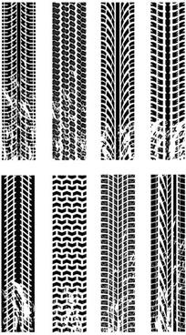 tire impression vector