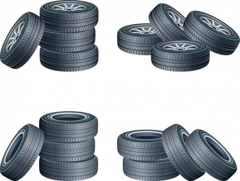tyre icons shiny modern 3d design