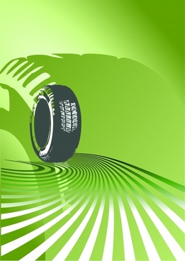 tire advertising background green 3d silhouette decor