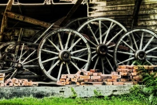 tires wooden heritage