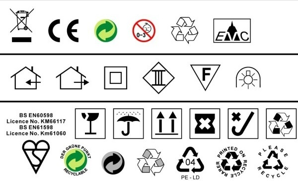 to do a design often used in environmental standards such as ce trash icon