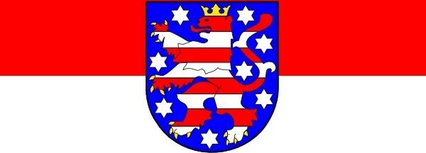 Tobias Flag Of Thuringia clip art