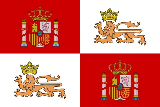 Tobias Historic Flag Of The Spain Royal Navy clip art