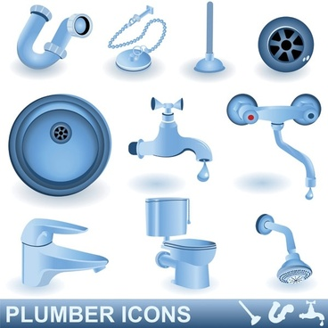 toilet articles vector