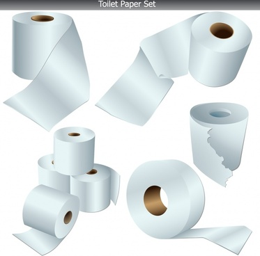 toilet paper roll templates colored modern 3d design