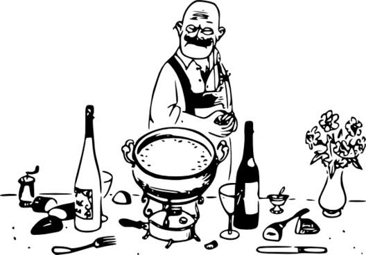 Tom Grumpy Chef clip art