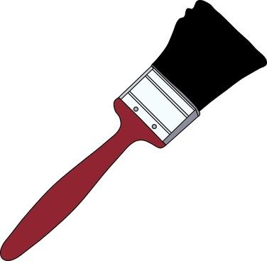 Tom Red Paintbrush clip art