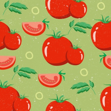 tomato background red repeating design