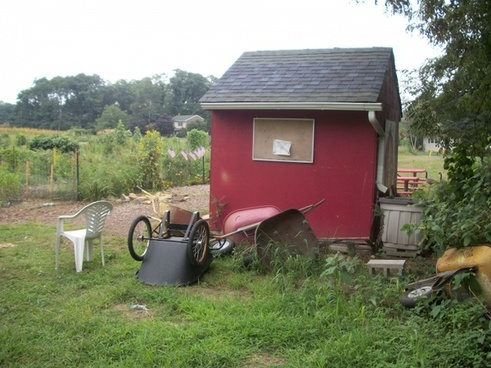 tool shed at the garden