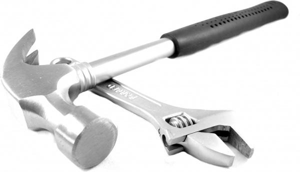 tools hammer spanner