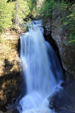 top of miners falls at pictured rocks national lakeshore michigan