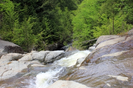 top of the upper falls at adirondack mountains new york