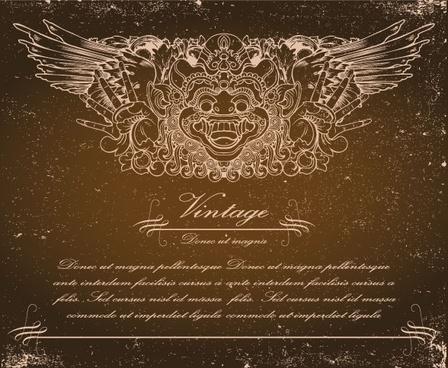totem faith background 01 vector